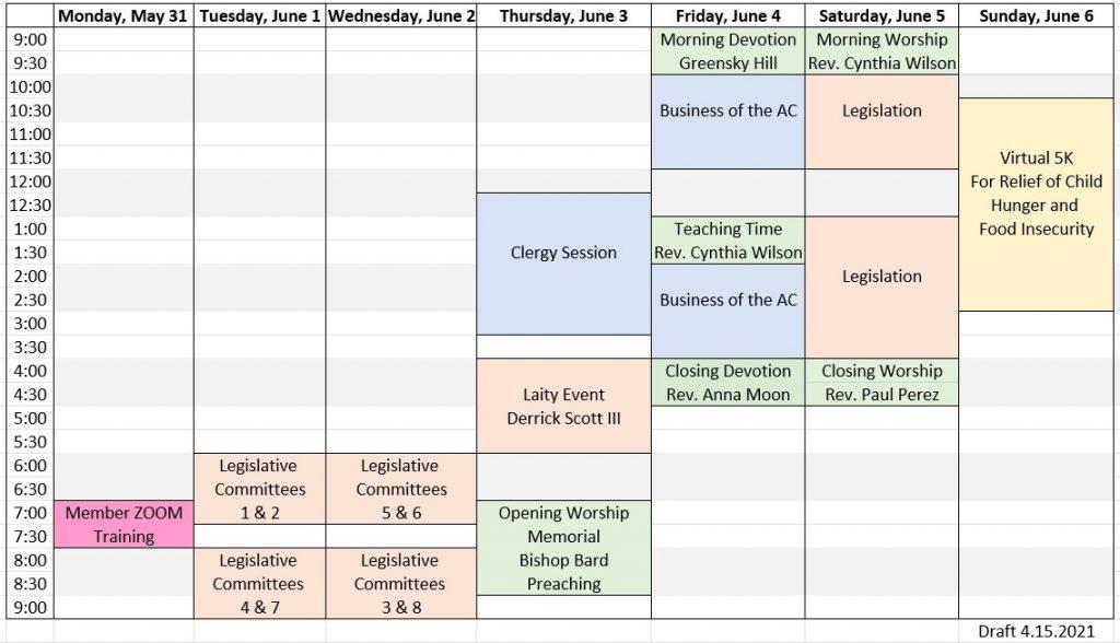 AC Block Schedule